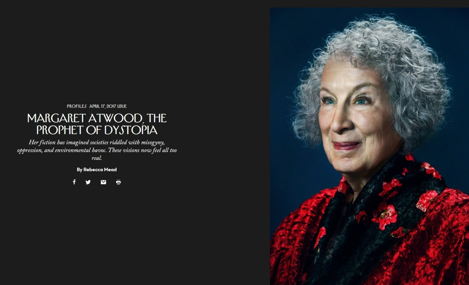 Image result for MARGARET ATWOOD, THE PROPHET OF DYSTOPIA